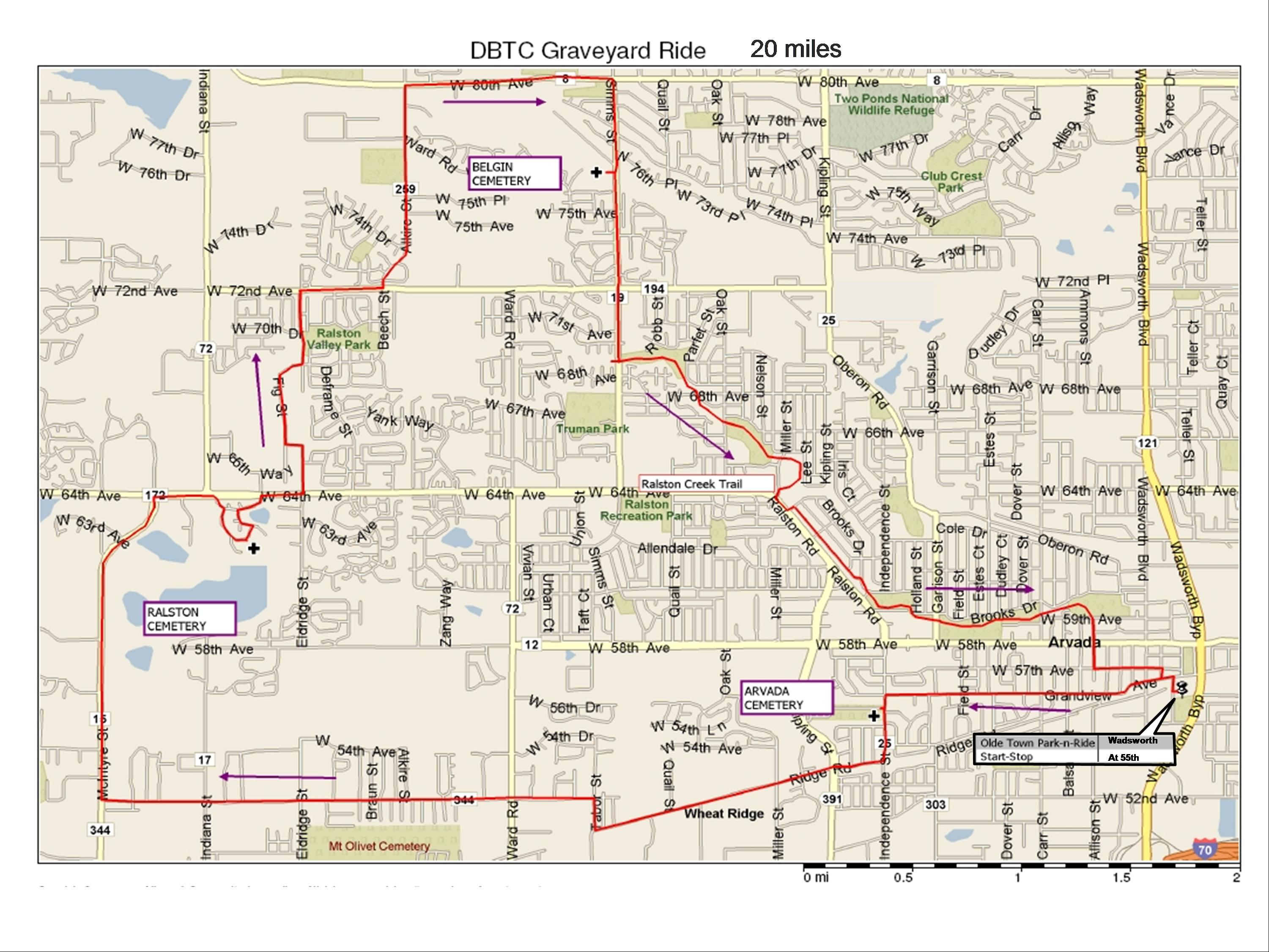 Denver Bicycle Touring Club Inc Route Map Library